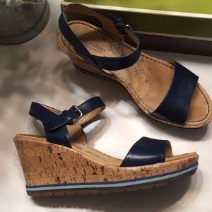 Naturalized Blue Wedge Sandal